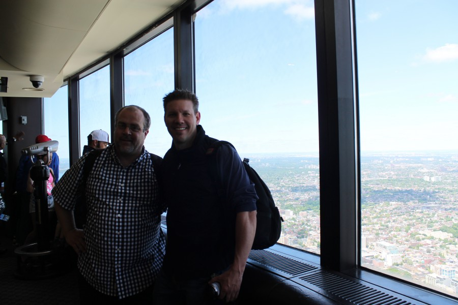 Jeremy of Budget Travel Adventures & I at the CN Tower